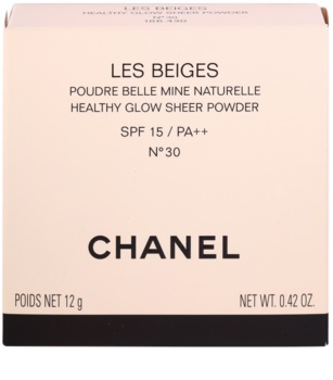 Chanel Les Beiges pulbere fina SPF 15