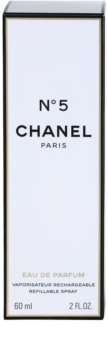 Chanel N°5 eau de parfum per donna 60 ml ricaricabile