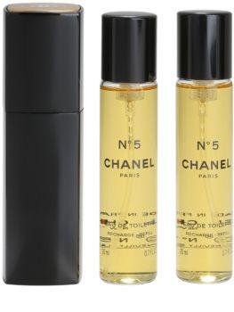 Chanel N°5 eau de toilette (1x reincarcabil + 2x rezerva) pentru femei 20 ml