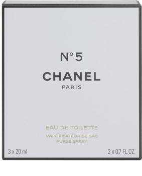 Chanel N° 5 woda toaletowa dla kobiet 20 ml (1x napełnialny + 2x napełnienie)
