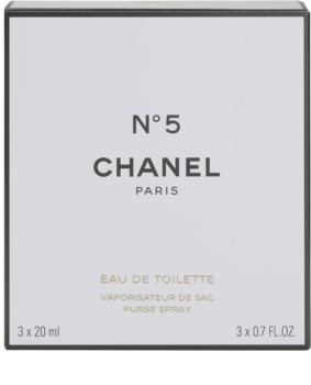 Chanel N°5 toaletní voda pro ženy 20 ml (1x plnitelná + 2x náplň)