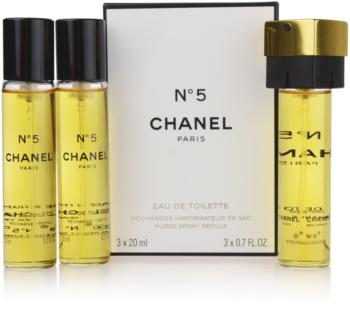 Chanel N°5 eau de toilette pachet pentru calatorie pentru femei 3 x 20 ml