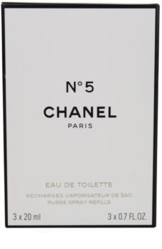 Chanel N°5 Eau de Toilette for Women 3 x 20 ml Travel Packaging