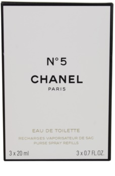 Chanel N°5 Eau de Toilette for Women 3 x 20 ml Travel Packaging