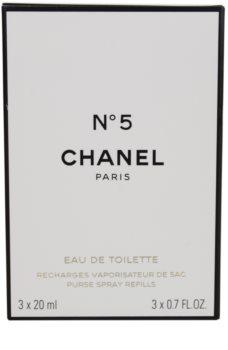 Chanel N°5 toaletná voda pre ženy 3 x 20 ml cestovné balenie