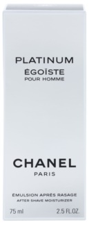Chanel Egoiste Platinum emulsión after shave para hombre 75 ml