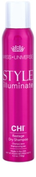 CHI Style Illuminate Miss Universe suchý šampon pro absorpci přebytečného mazu a pro osvěžení vlasů