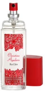 Christina Aguilera Red Sin deodorant s rozprašovačem pro ženy 75 ml