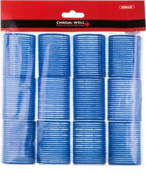 Chromwell Accessories Blue selbsthaftende Lockenwickler für das Haar