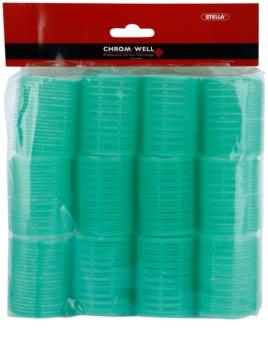 Chromwell Accessories Green selbsthaftende Lockenwickler für das Haar