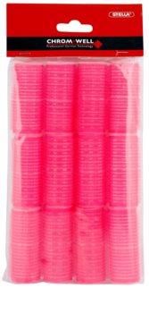 Chromwell Accessories Pink rolos de caracóis estreitos