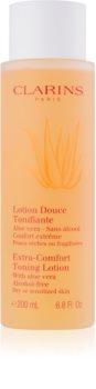 Clarins Cleansers lotion tonique rafraîchissante pour peaux sèches à sensibles