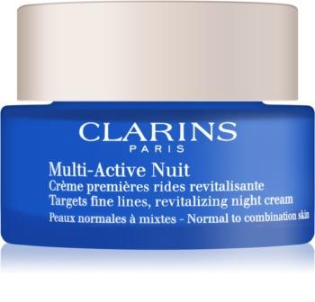 Clarins Multi-Active revitalisierende Nachtcreme gegen feine Linien für normale Haut und Mischhaut
