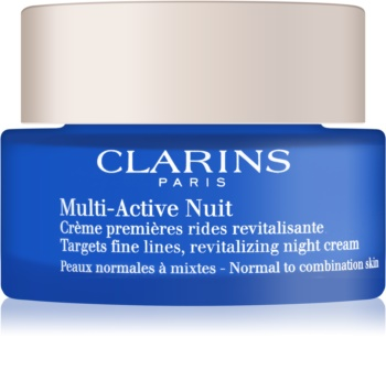 Clarins Multi-Active revitalizirajuća noćna krema za nježne linije za normalnu i mješovitu kožu lica