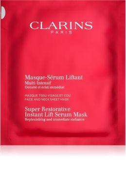 Clarins Super Restorative megújító maszk a ráncok azonnali kisimításáért