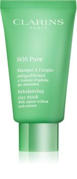 Clarins SOS Pure mască cu argilă pentru piele mixta spre grasa