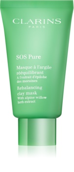 Clarins SOS Pure maska iz ilovice za mešano do mastno kožo