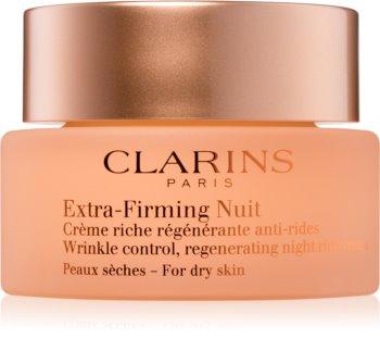 Clarins Extra-Firming crème de nuit raffermissante anti-rides pour peaux sèches