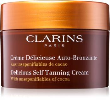 Clarins Sun Self-Tanners samoopaľovací krém na tvár a telo s kakaovým maslom