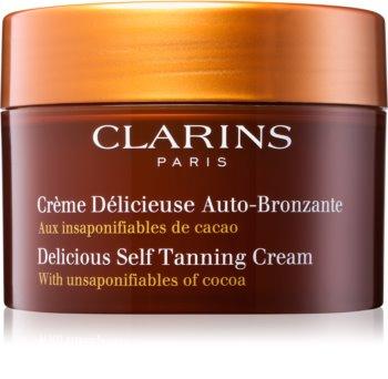 Clarins Sun Self-Tanners κρέμα αυτομαυρίσματος για σώμα και πρόσωπο με βούτυρο κακάο