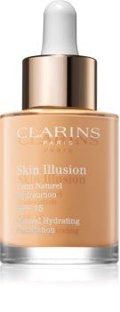 Clarins Face Make-Up Skin Illusion rozjasňující hydratační make-up SPF 15
