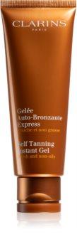 Clarins Sun Self-Tanners gel auto-bronzant effet instantané