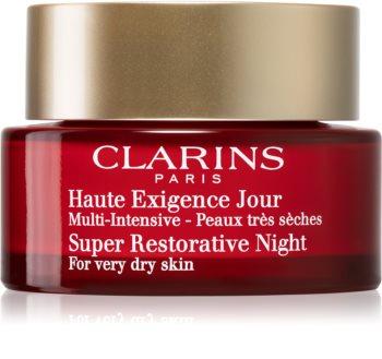 Clarins Super Restorative creme de noite contra todos os sinais de envelhecimento para pele muito seca