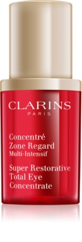 Clarins Super Restorative зміцнююча сироватка для шкіри навколо очей від  зморшок, набряків та темних кіл під очима