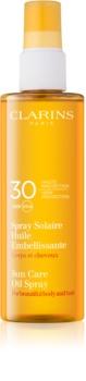 Clarins Sun Protection Bruiningsolie voor Lichaam en Haar  SPF 30