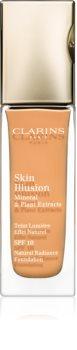 Clarins Face Make-Up Skin Illusion élénkítő make-up a természetes hatásért SPF 10