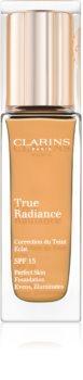 Clarins Face Make-Up True Radiance rozjasňujúci hydratačný make-up pre dokonalý vzhľad SPF 15
