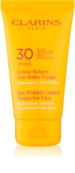 Clarins Sun Protection krema za sunčanje protiv starenja kože lica SPF 30