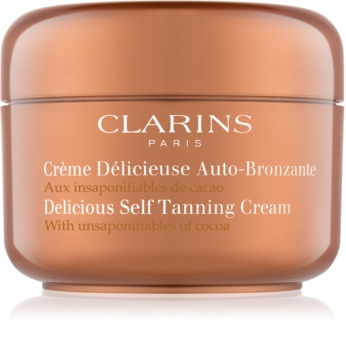 Clarins Sun Self-Tanners creme autobronzeador para corpo e rosto com manteiga de cacau