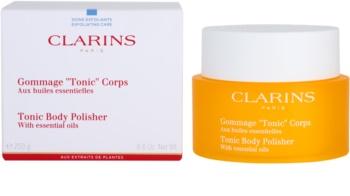 Clarins Body Exfoliating Care gel de dus exfoliant pentru fermitate cu uleiuri esentiale