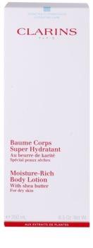 Clarins Body Hydrating Care leite corporal hidratante para pele seca