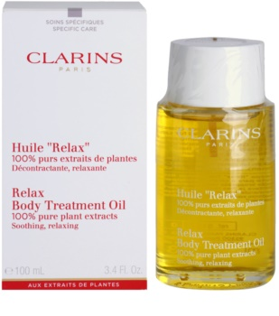 Clarins Body Specific Care олійка для тіла з розгладжуючим і розслабляючим ефектом з рослинними екстрактами
