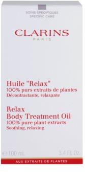 Clarins Body Specific Care óleo corporal relaxante com extratos vegetais