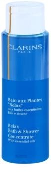 Clarins Body Specific Care relaxáló fürdő- és tusoló gél esszenciális olajokkal