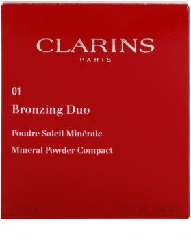 Clarins Face Make-Up Bronzing Duo pudra bronzanta cu minerale