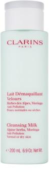 Clarins Cleansers mlijeko za čišćenje s ekstraktom alpskih biljaka za normalno i suho lice