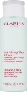 Clarins Cleansers mlijeko za čišćenje sa ekstraktom alpskih biljaka za normalno i suho lice