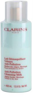 Clarins Cleansers Reinigungsmilch mit Auszügen aus Alpenkräutern für normale und trockene Haut