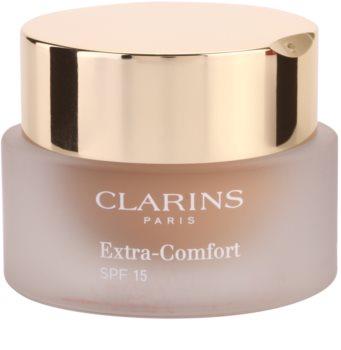 Clarins Face Make-Up Extra-Comfort posvetlitveni in pomlajevalni tekoči puder na naraven videz SPF 15