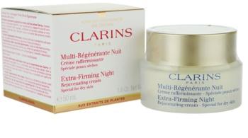 Clarins Extra-Firming crema de noche reafirmante y antiarrugas  para pieles secas