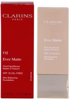 Clarins Face Make-Up Ever Matte матуючий тональний крем для звуження пор SPF 15