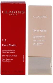 Clarins Face Make-Up Ever Matte zmatňujúci make-up pre minimalizáciu pórov SPF 15
