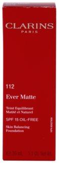 Clarins Face Make-Up Ever Matte pórusösszehúzó mattító make-up SPF 15