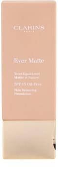 Clarins Face Make-Up Ever Matte machiaj matififiant pentru a minimiza porii SPF15