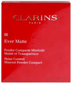 Clarins Face Make-Up Ever Matte Mineral Pressed Powder for a Matte Look