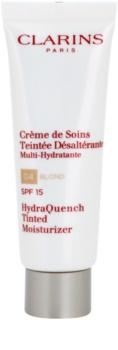 Clarins HydraQuench ľahký tónovací krém s hydratačným účinkom SPF 15
